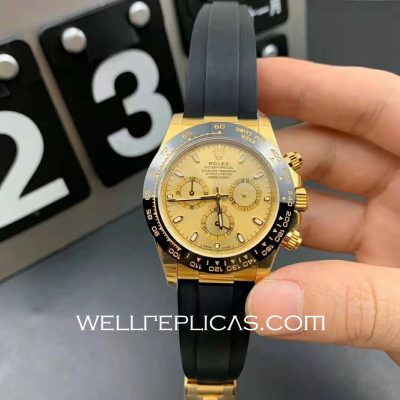 Mens Rolex Daytona 116500ln 40mm Case Mechanical (Automatic) Movement Gold Dial
