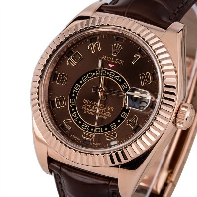 Rolex Replicas For Sale Cheap Rolex Sky-dweller 326135 Rose Gold