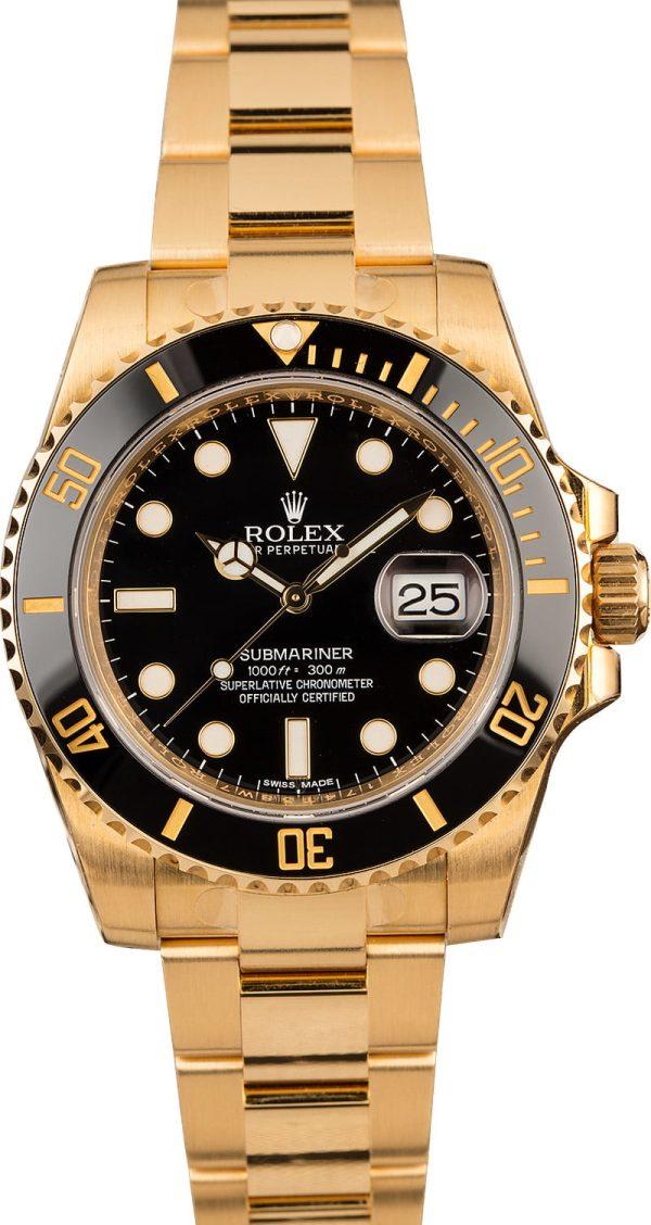 Rolex Knockoff Rolex Gold Submariner 116618