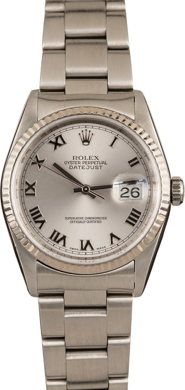 Replica Luxury Watches Men's Rolex Oyster Perpetual Datejust Steel 16234