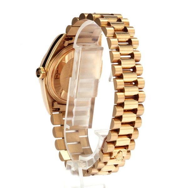 Real Vs Fake Rolex Men's Rolex President Gold Day-date Model 18038