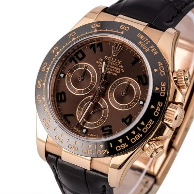 Knockoff Rolexrolex Daytona Rose Gold Chocolate Dial
