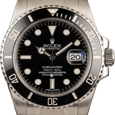 Cheap Rolex Replicarolex Steel Submariner 116610 Black Luminous Dial