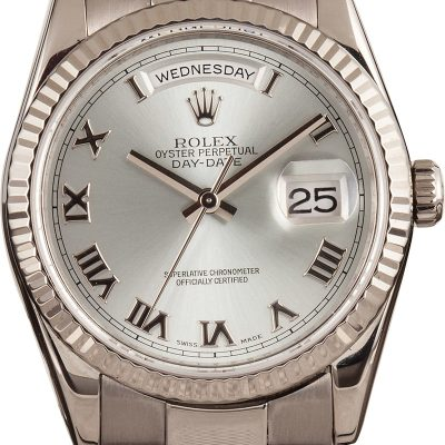 Fake Watch Rolex Day-date 118209 Rhodium Dial 18k White Gold