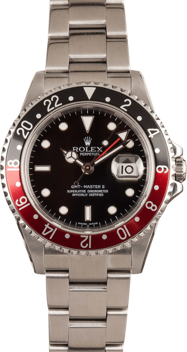 Rolex Replicas Swiss Made Rolex 16710 'coke' Gmt Master Ii