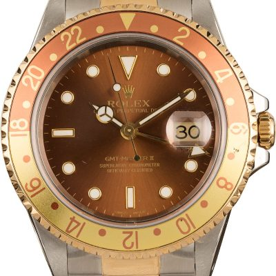 Replica Watches For Sale 40mm Rolex 'root Beer' 16713 Gmt-master Ii