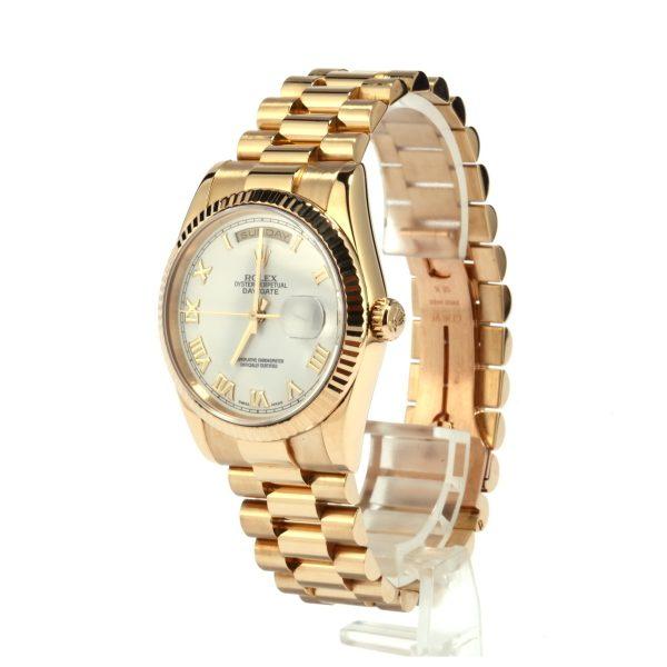 Replica Rolex Watch Rolex President 118238 White Roman Dial