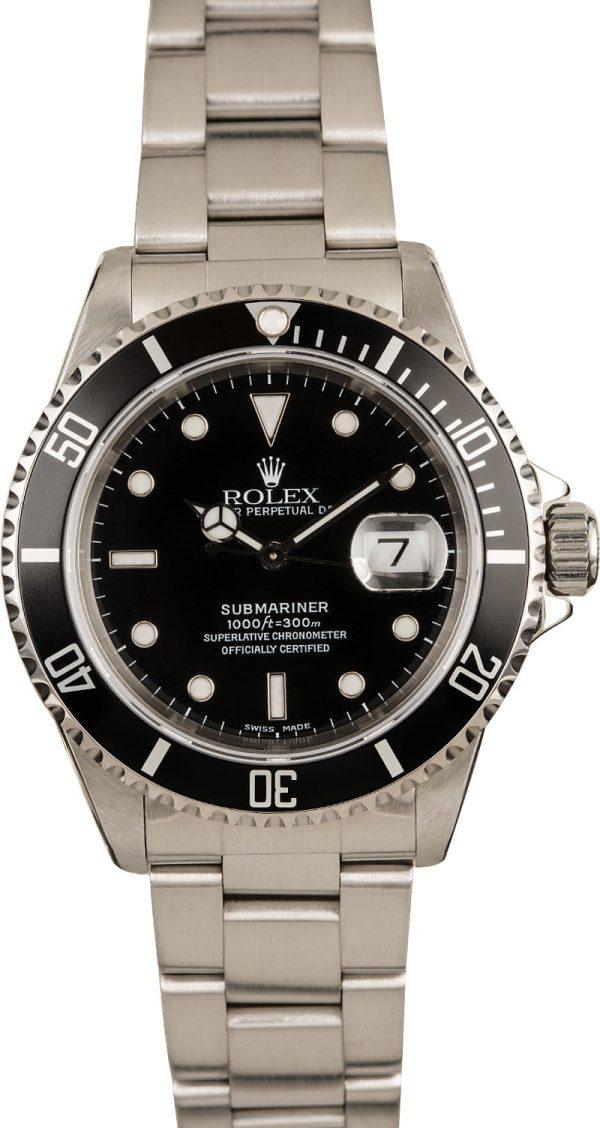 Rolex Replica Swisssubmariner Rolex 16610 Black Dial