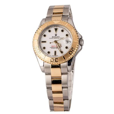 Watch Replicasrolex Yacht-master 168623 Two Tone White Dial