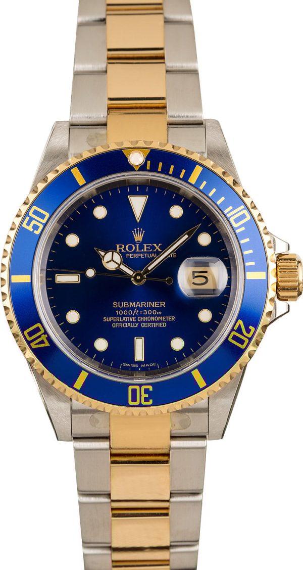 Rolex Oyster Perpetual Datejust Fakerolex Blue Submariner 16613