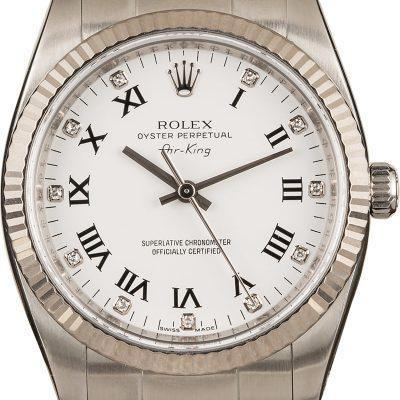 Fake Watch Rolex Air-king 114234 White Diamond Dial