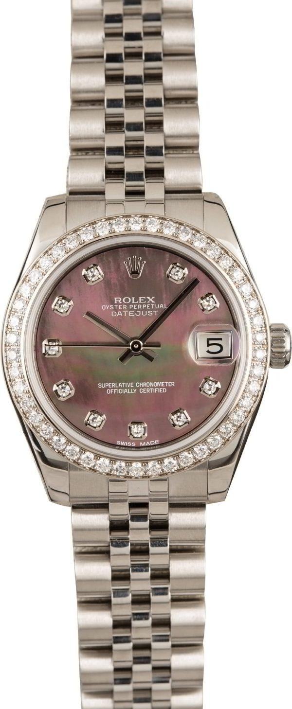 Lady Diamond Replica Rolex Datejust Stainless Steel