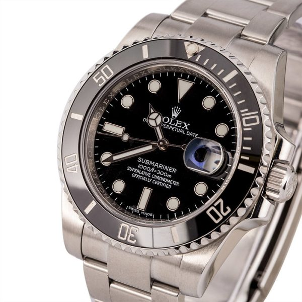 Men Stainless Steel Fake Rolex Submariner 116610ln Automatic 3135
