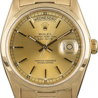 Men Replica Rolex President 18028 18k Yellow Gold Presidential