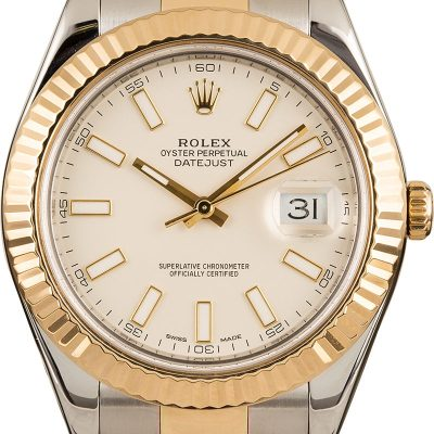 18k Yellow Gold Men Rolex Datejust 41mm Automatic 3136
