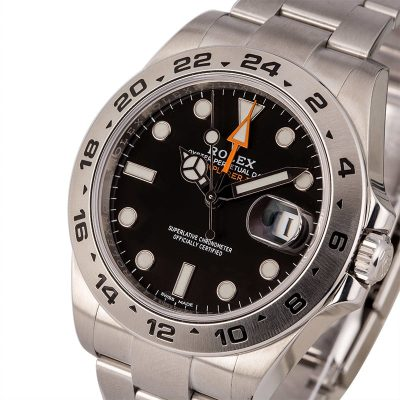 Men Automatic 3187 Replica Rolex Explorer Ii 216570 Dial Black Stainless Steel