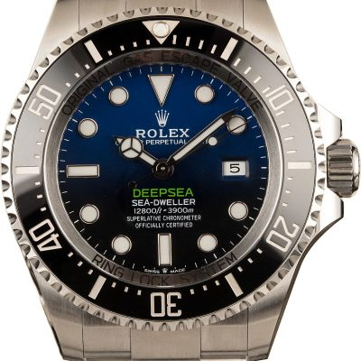 Men Replica Rolex Sea-dweller Deepsea 126660 Dial Deep Blue Stainless Steel