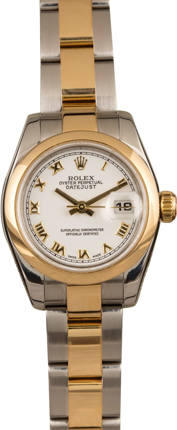 Yellow Gold Ladies Automatic 2235 Fake Rolex Datejust 179163 Stainless Steel