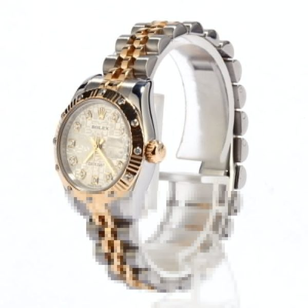 Case 26mm Replica Rolex Ladies Datejust 179313 Dial Silver Stainless Steel