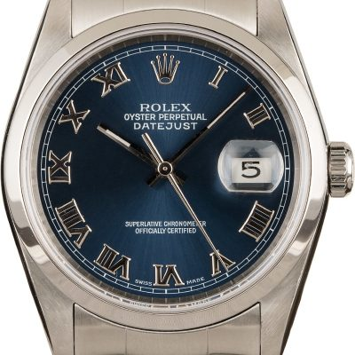 Automatic 3135 Replica Rolex Datejust 16200 Case 36mm Stainless Steel