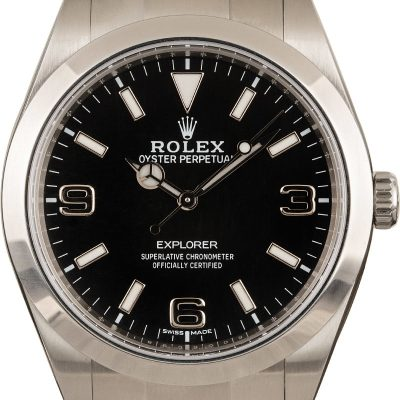 Dial Black Men Replica Rolex Explorer 214270 Case 39mm Automatic 3132
