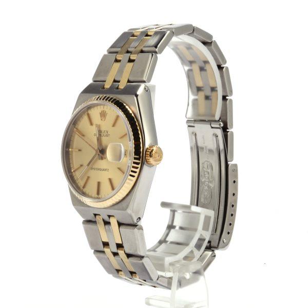 Quartz Movement Men Replica Rolex Datejust 17013 Dial Champagne Stainless Steel