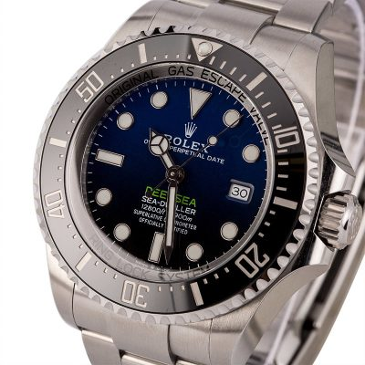 Case 44mm Men Replica Rolex Deepsea 126660 Dial Deep Blue Stainless Steel