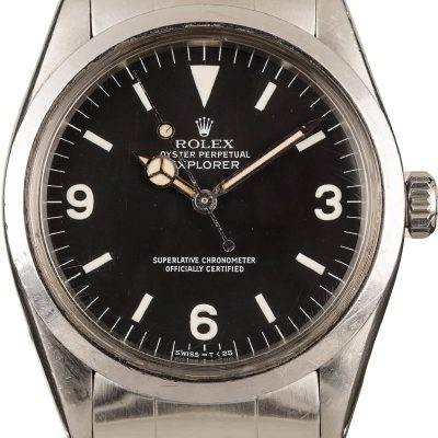 Men Dial Matte Black Replica Rolex Model Explorer 1016 Automatic 1570