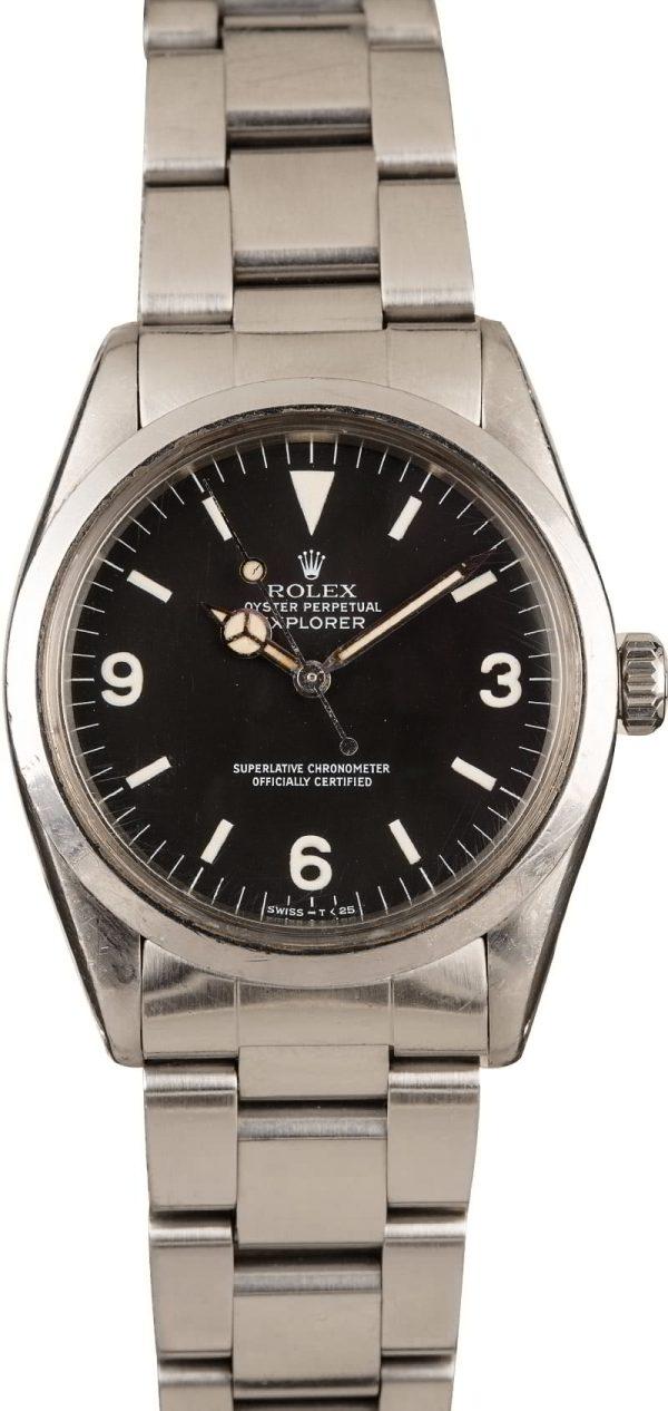 Men Dial Matte Black Replica Rolex Model Explorer 1016 Automatic 1570