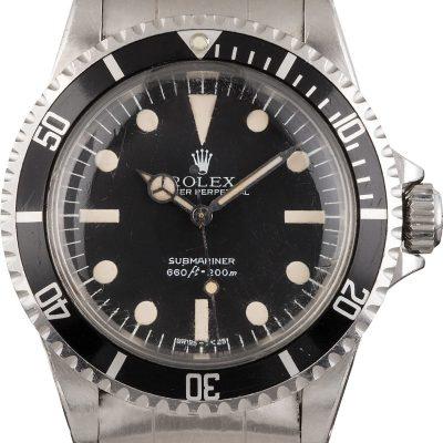 Men Fake Rolex Submariner 5513 Dial Dark Black Automatic 1520