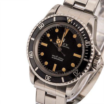Replica Men Rolex Submariner 5513 Dial Dark Black Automatic 1520