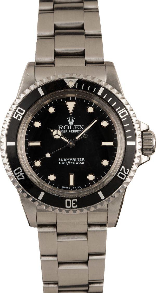 Men Dial Black Replica Vintage Rolex Submariner 5513 Automatic 1520