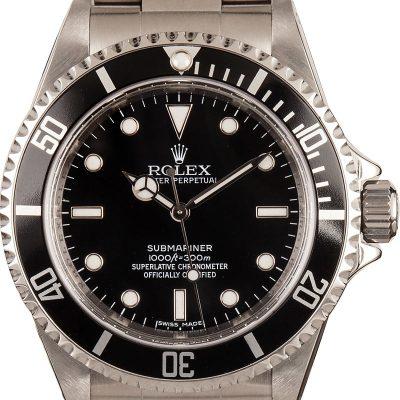 Men Dial Black Replica Rolex Submariner 14060 Case 40mm Stainless Steel
