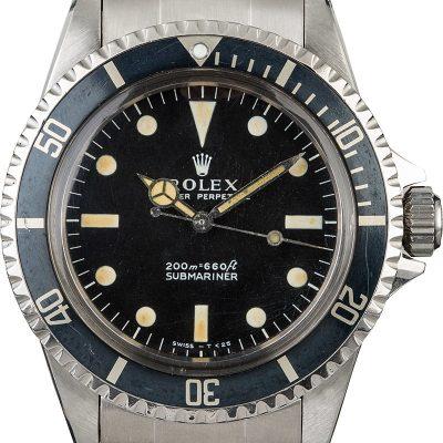 Men dial black Replica Rolex Submariner Vintage 5513 Automatic 1520