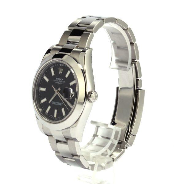 Rolex Datejust 116300 Men's Black Dial Watch