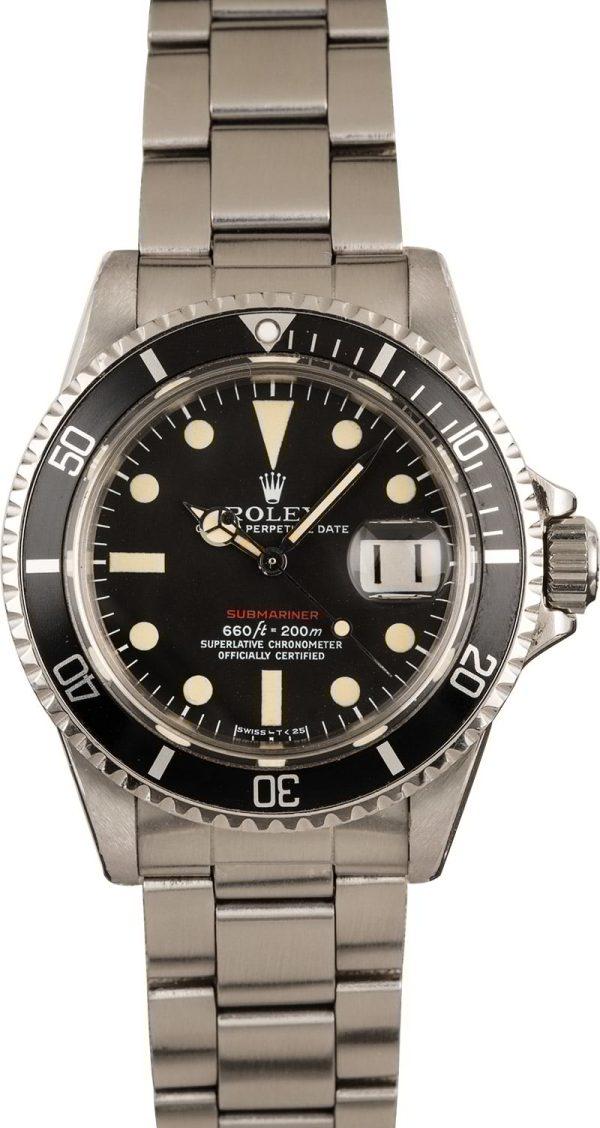Rolex Red Submariner 1680 Automatic 1570 Men's watch