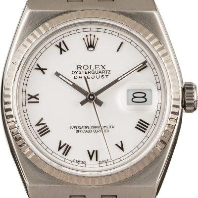 Rolex Datejust Oysterquartz 17014 Replica Men Stainless Steel Watch