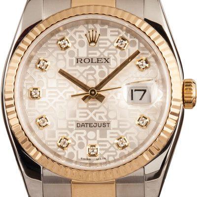 Replica Rolex Datejust 116233 Men's 18k Yellow Gold Automatic 3135