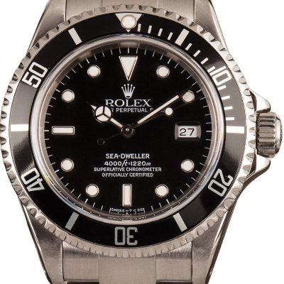 Rolex Sea-dweller 16600 Replica Men's Dial Black Stainless Steel