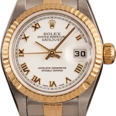 Fake Rolex Oyster Perpetual Datejust 79173 Ladies Dial White Stainless Steel
