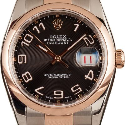 Rolex Datejust 116201 Men's Fake Dial Black Automatic 3135
