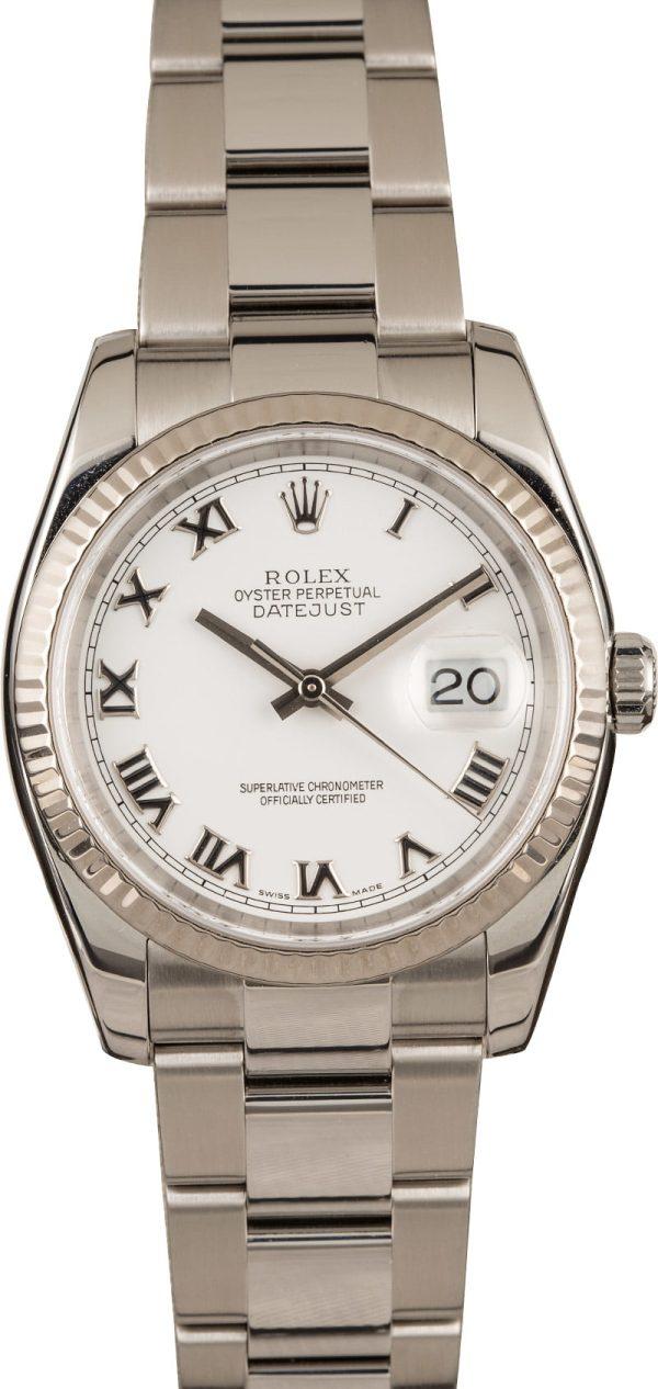 Fake Rolex Datejust 116234 Men's Case 36mm 904l Stainless Steel