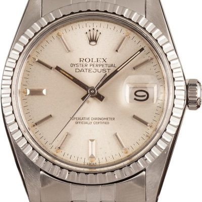 Rolex Datejust 16030 Replica Men's Dial Silver Stainless Steel Watch