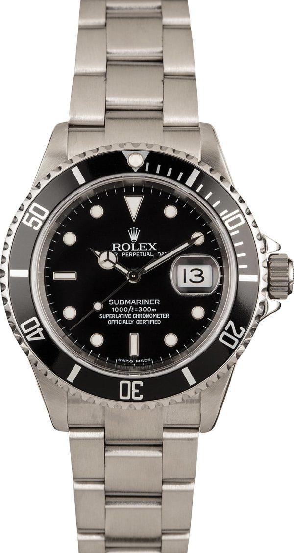Rolex Submariner 16610t Replica Men's Dial Black Stainless Steel