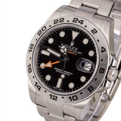 Rolex Explorer Ii 216570 Replica Men's Dial Black 904l Stainless Steel