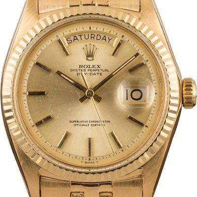 Rolex Day Date 1803 Men's Replica Case 36mm 18k Yellow Gold Watch