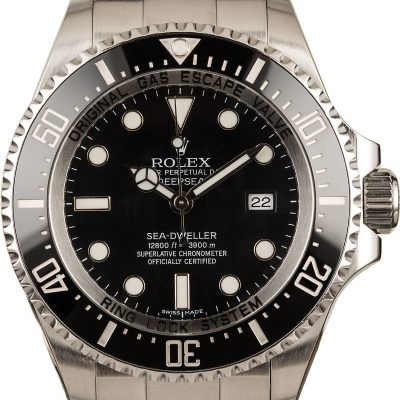 Rolex Sea Dweller Deepsea 116660 Men's Dial Black Stainless Steel Oyster