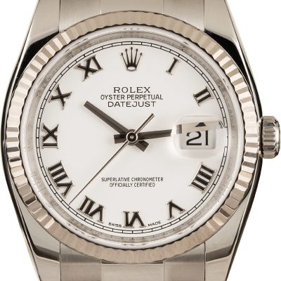 Rolex Datejust 116234 Replica Men's Dial White Stainless Steel Watch