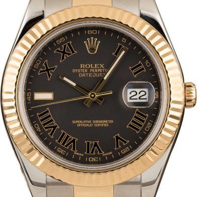 Rolex Datejust 116333 Replica Men's Dial Matte Black Automatic 3136
