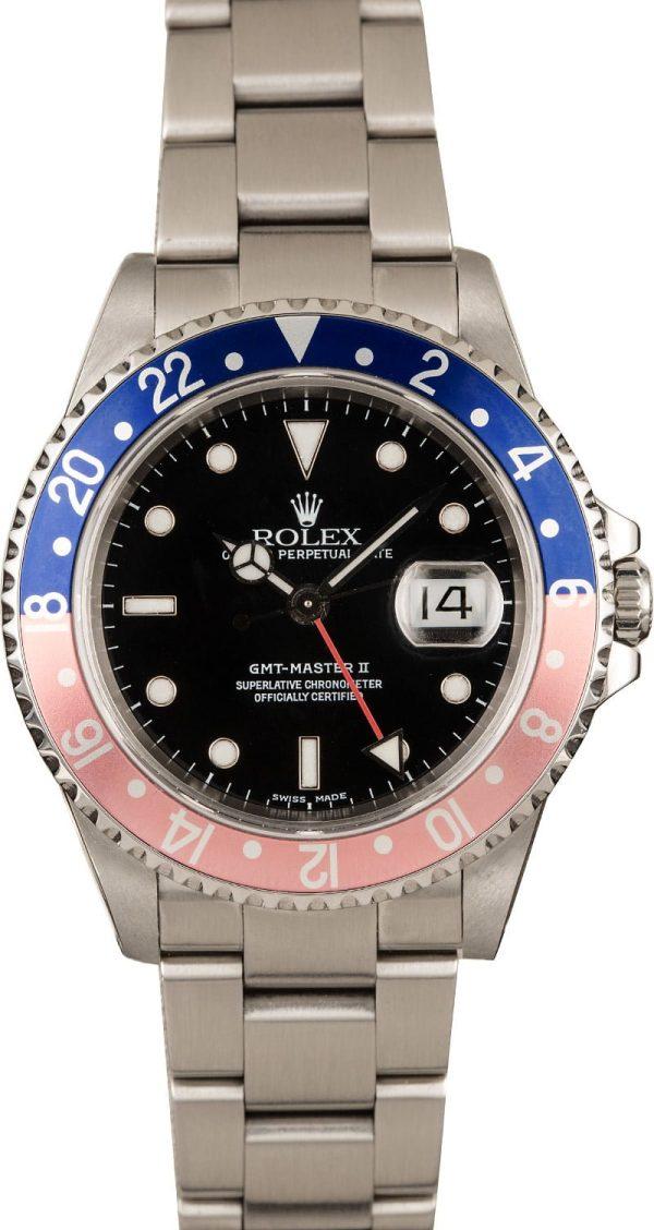 Rolex Gmt-master Ii - 16710 Replica Men's Dial Black Stainless Steel